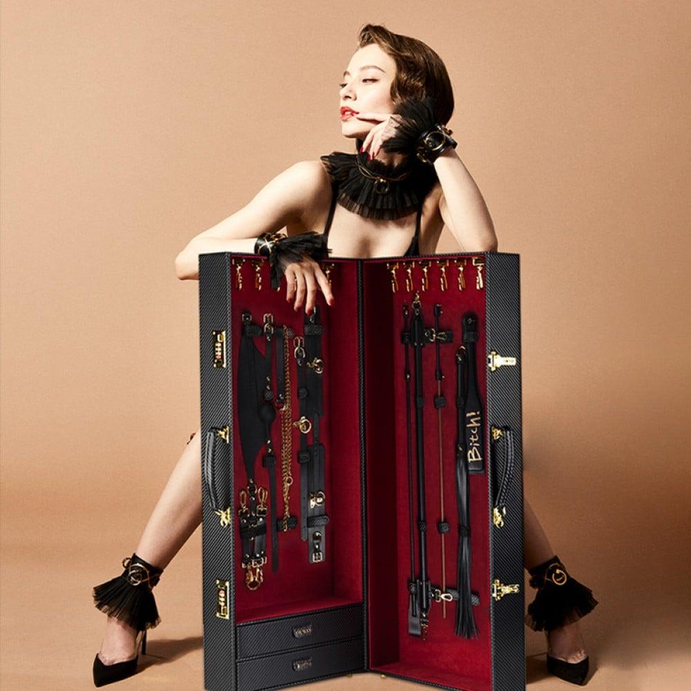 Шкаф-чемодан для БДСМ девайсов кожаный Sade Trunk UPKO (34768), фото 12