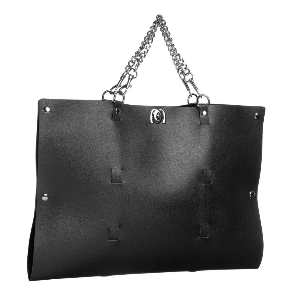 Стильный бондажный набор в сумочке, черный, замкожа (32300), фото 2