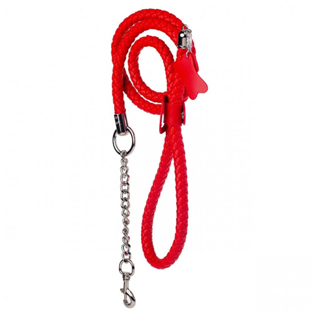 Стильный бондажный набор в сумочке красный, кожзам (32301), фото 2