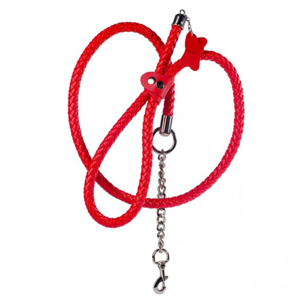 Стильный бондажный набор в сумочке красный, кожзам (32301), фото 3