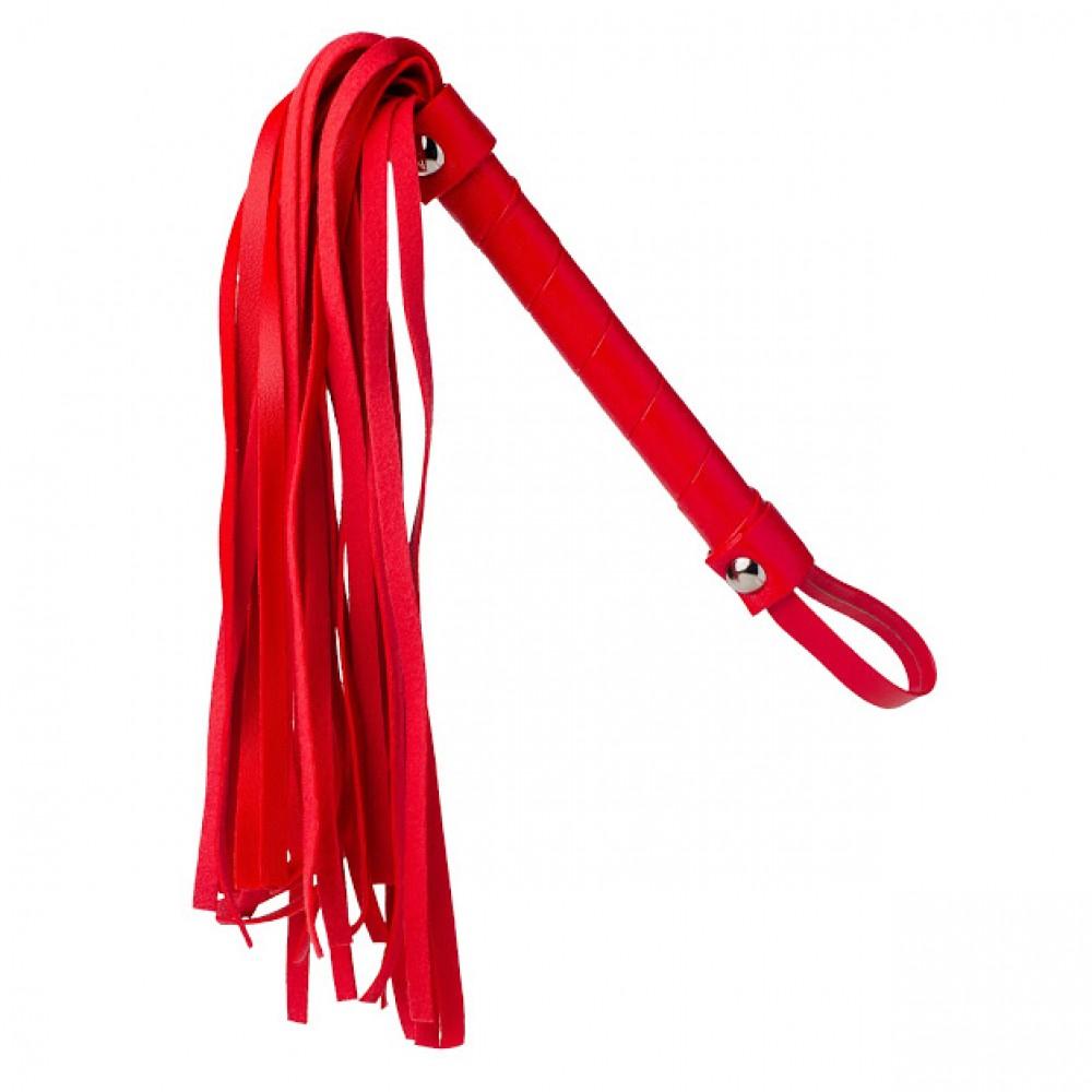 Стильный бондажный набор в сумочке красный, кожзам (32301), фото 4