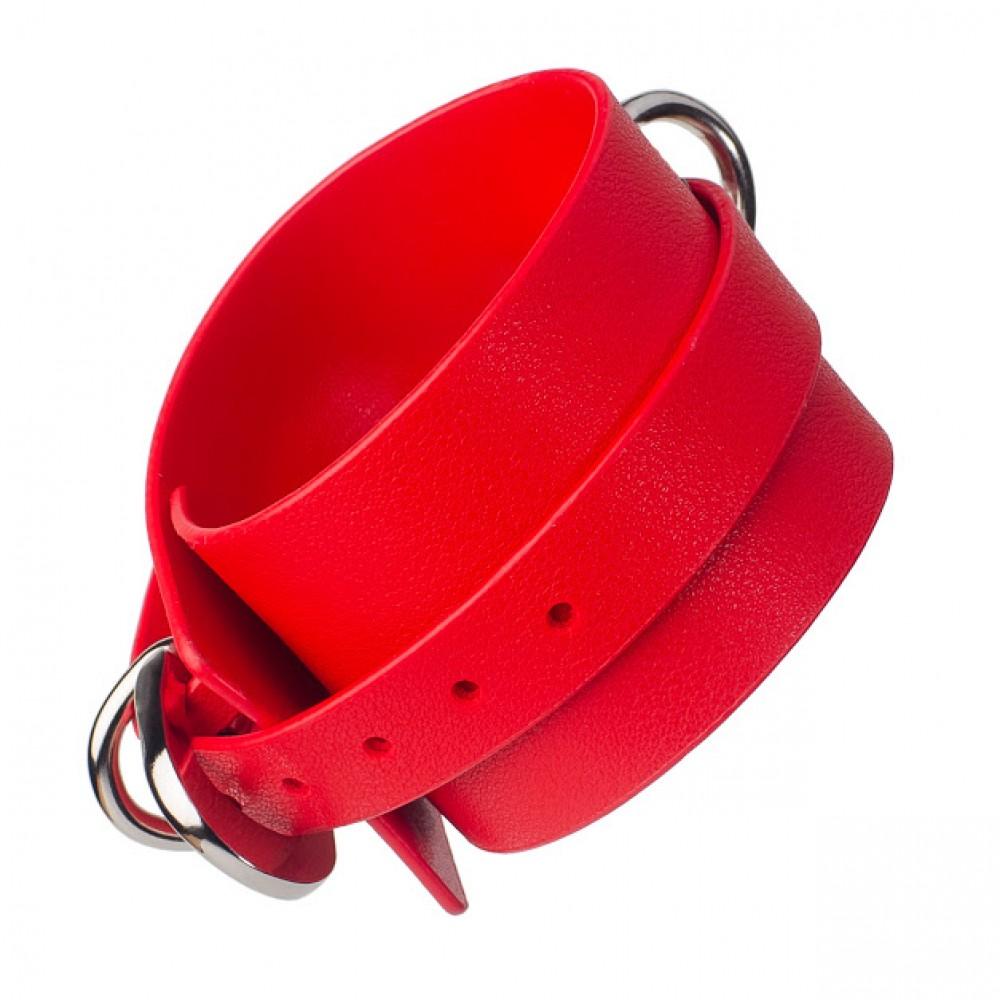 Стильный бондажный набор в сумочке красный, кожзам (32301), фото 8