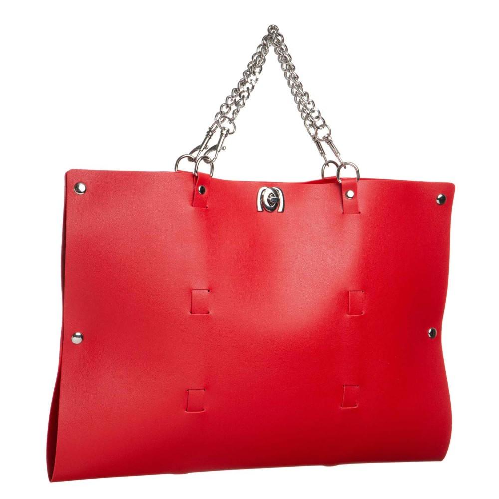 Стильный бондажный набор в сумочке красный, кожзам (32301), фото 11