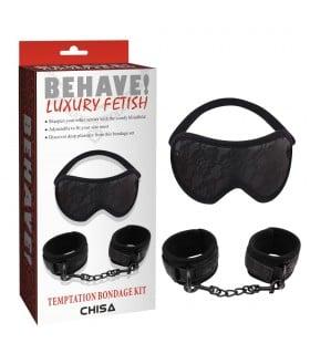 Набор маска и наручники ажур Behave Luxury Fetish - No Taboo