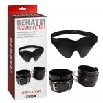 Набор маска+наручники Behave Luxury Fetish