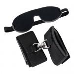 Набор наручники и маска (мягкие), черные