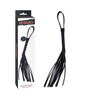 Флоггер( батіг), з петлею на рукоятці, чорний, 72 см - No Taboo