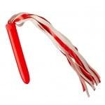 Плетка с пластиковой рукояткой красная NO TABOO