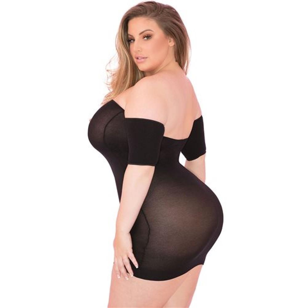 Сексуальное платье с открытыми плечами L/XL (33620), фото 2