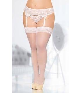 Чулочки Soft Line, цвет белый, размер XXL - No Taboo