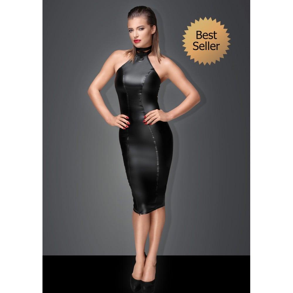 Сексуальное черное платье Госпожи с чокером на шею XXL (31936), фото 1 — секс шоп Украина, NO TABOO