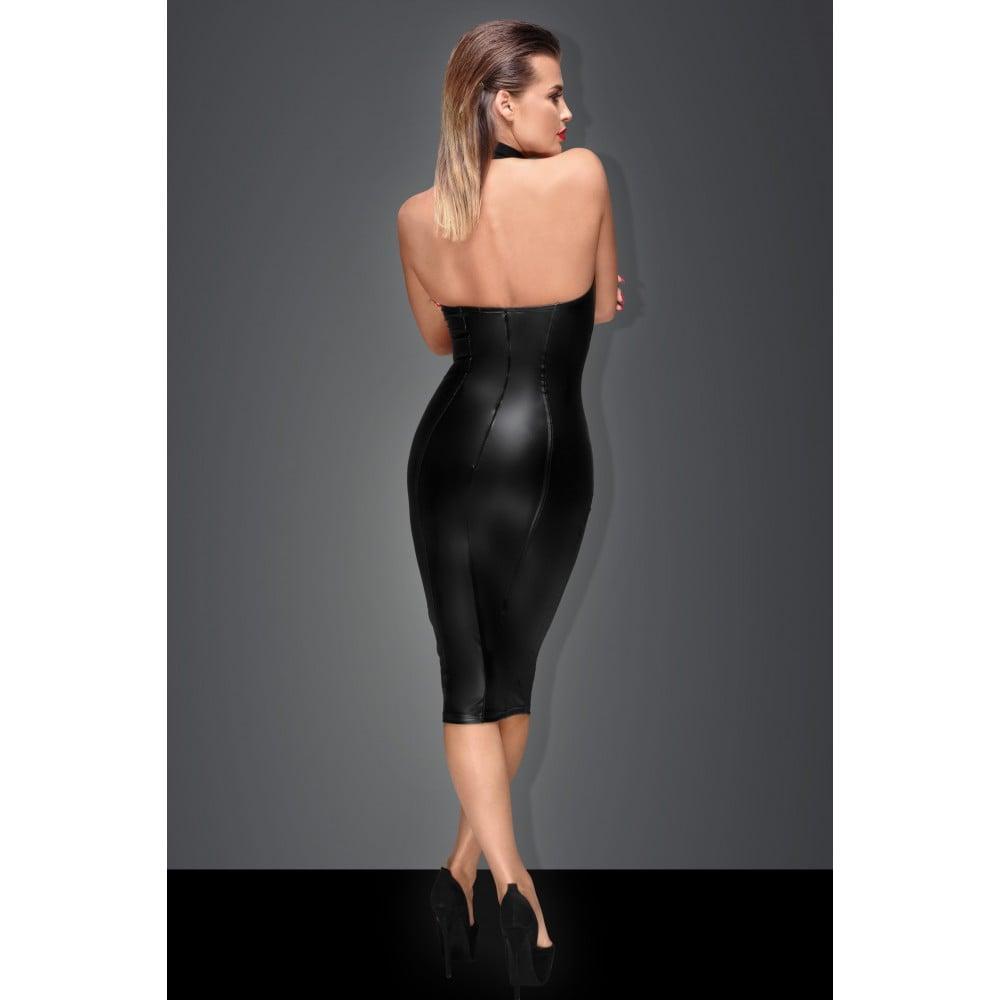 Сексуальное черное платье Госпожи с чокером на шею XXL (31936), фото 3 — секс шоп Украина, NO TABOO