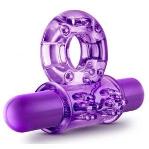 Ерекційне кільце з вібрацією, фіолетове (33614), zoom