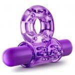 Фиолетовое эрекционное кольцо с вибрацией