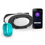 Набор Очки + браслет SENSE MAX Sense Ecosystem, голубой