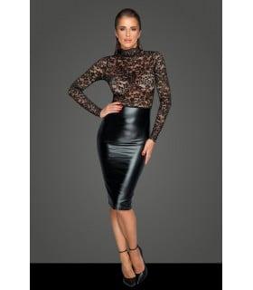 Платье с кружевом, черное, Noir Handmade, размер M - No Taboo