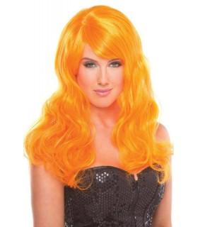 Парик с челкой Burlesque Wig, оранжевый - No Taboo