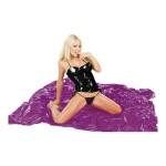 Простынь виниловая Fetish, на двуспальную кровать, фиолетовая