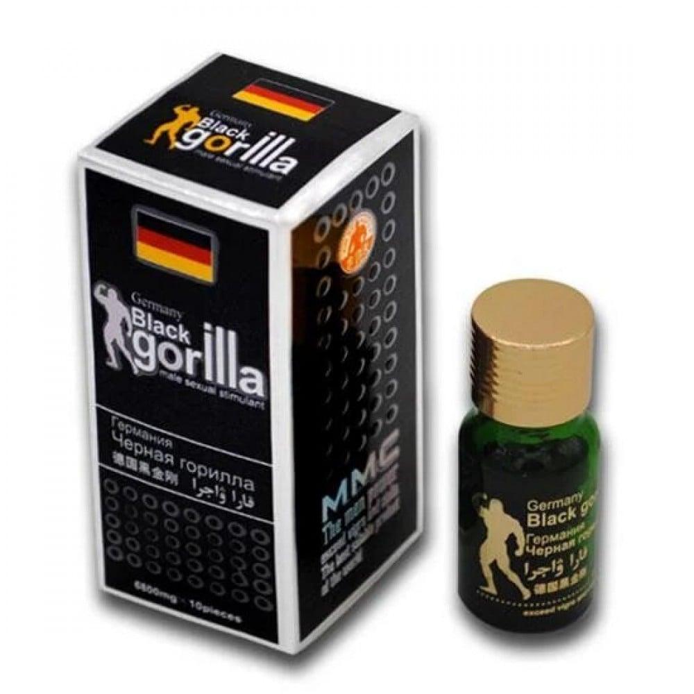 Таблетки для потенции Black Gorilla, 10 шт (38095), фото 1 — секс шоп Украина, NO TABOO