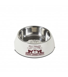 Миска для BDSM Pet-Play (Ігри в господаря і вихованця) UPKO х TOUCHDOG Puppy's Bowl, Біла - No Taboo