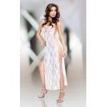 Сорочка кружевная SoftLine Roxie белая, размер M/L