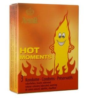 Презервативы Amor Hot Moments разогревающие, 3 шт