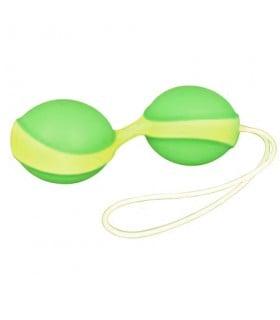 Вагинальные шарики Amor Gym Balls, зеленый/желтый