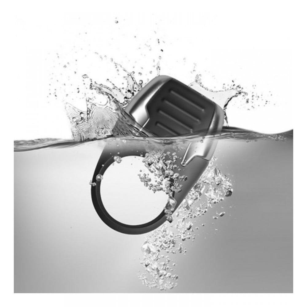 Эрекционное кольцо Rocks-Off Xerus черное, 3.5 см х 8 см (42122)