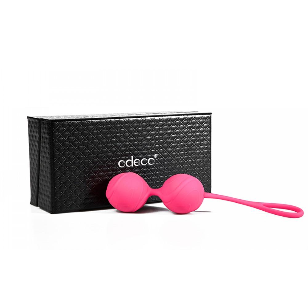 Вагінальні кульки Odeco, силіконові, рожеві, 116 г (19730)