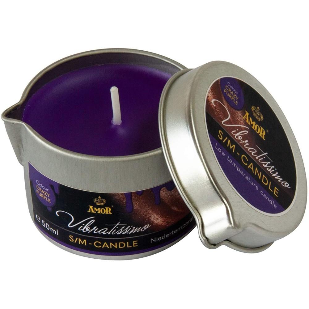 Низкотемпературная свеча Amor Vibratissimo фиолетовая, 50 мл (39922), фото 2 — секс шоп Украина, NO TABOO