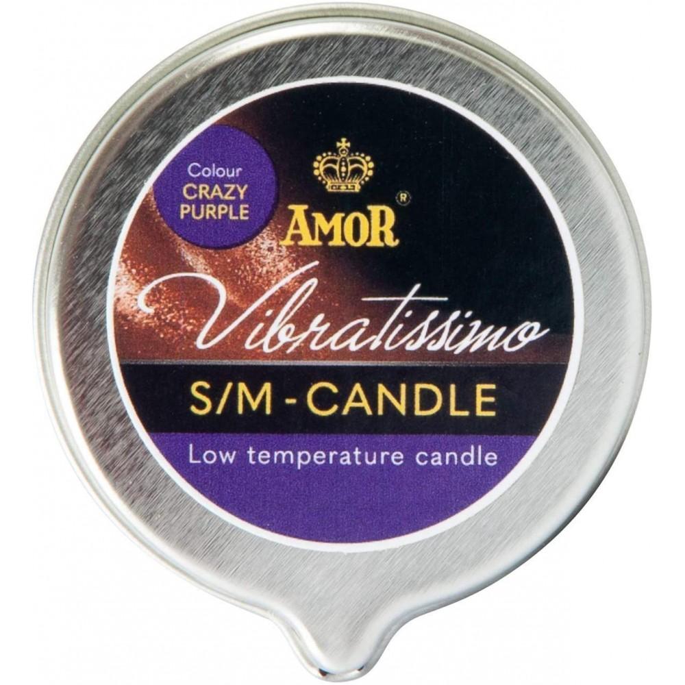 Низкотемпературная свеча Amor Vibratissimo фиолетовая, 50 мл (39922), фото 3 — секс шоп Украина, NO TABOO