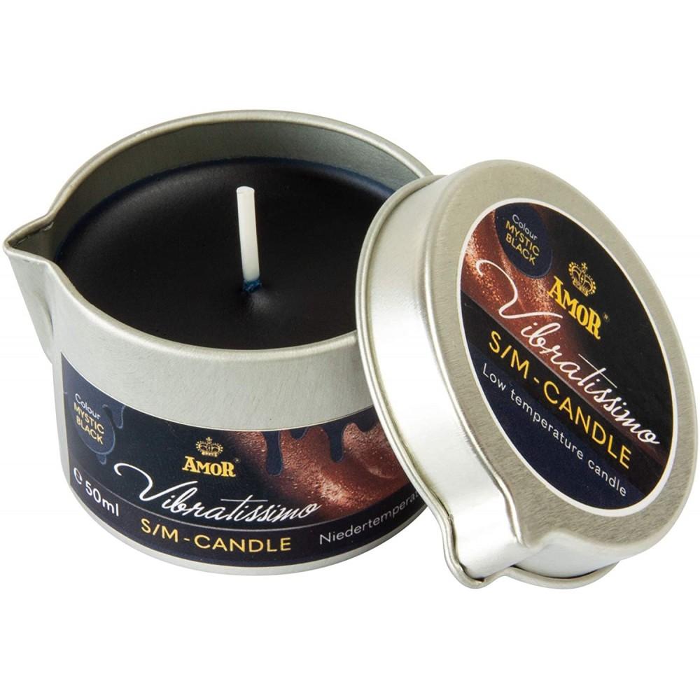 Низкотемпературная свеча Amor Vibratissimo черная, 50 мл (39924), фото 2 — секс шоп Украина, NO TABOO