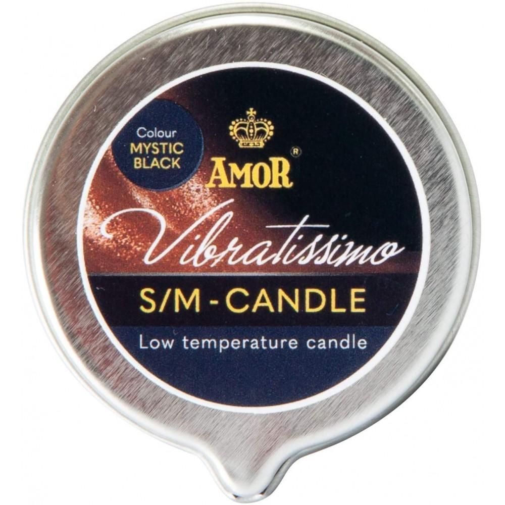 Низкотемпературная свеча Amor Vibratissimo черная, 50 мл (39924), фото 3 — секс шоп Украина, NO TABOO