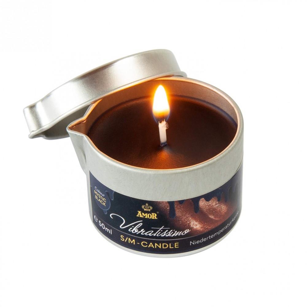 Низкотемпературная свеча Amor Vibratissimo черная, 50 мл (39924), фото 1 — секс шоп Украина, NO TABOO