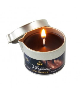 Низкотемпературная свеча Amor Vibratissimo черная, 50 мл