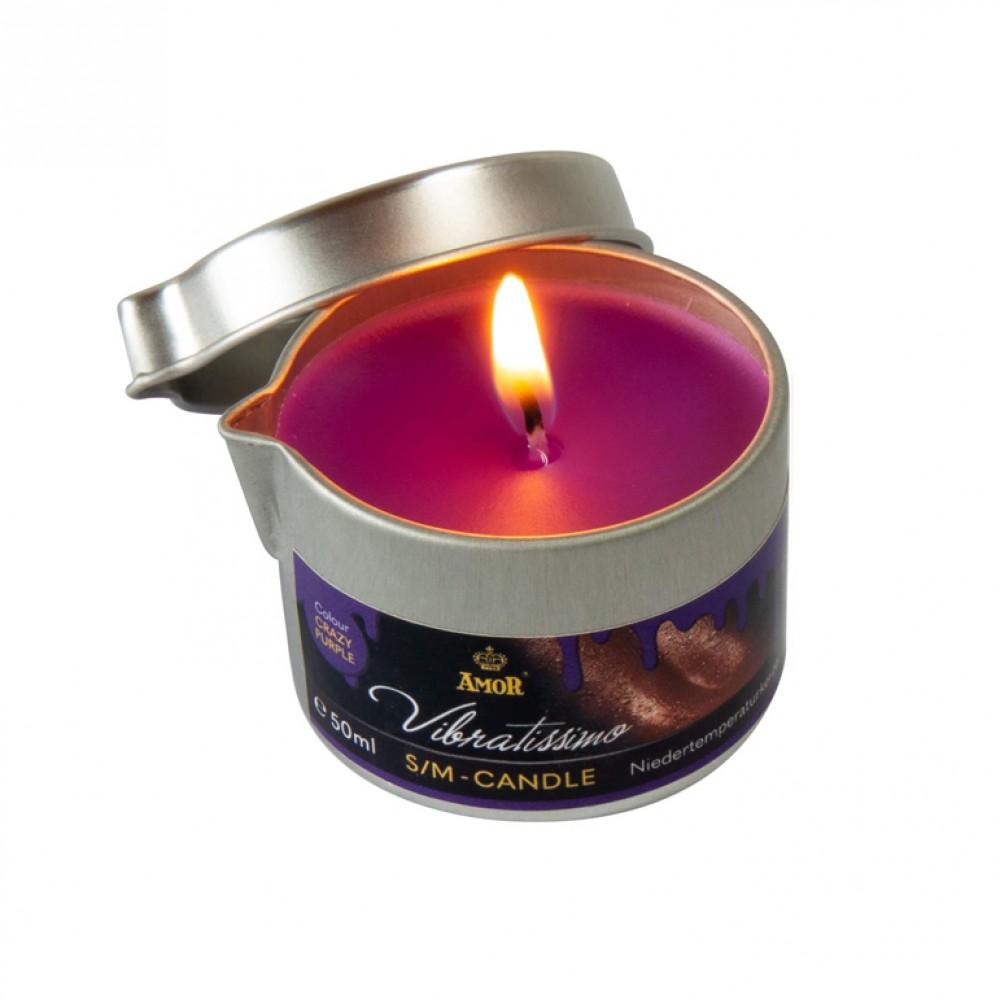 Низкотемпературная свеча Amor Vibratissimo фиолетовая, 50 мл (39922), фото 1 — секс шоп Украина, NO TABOO