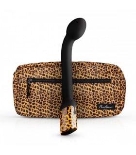Вибратор для точки G Nila G-spot, черного цвета с леопардовым принтом, 22.5 см х 3.5 см - No Taboo