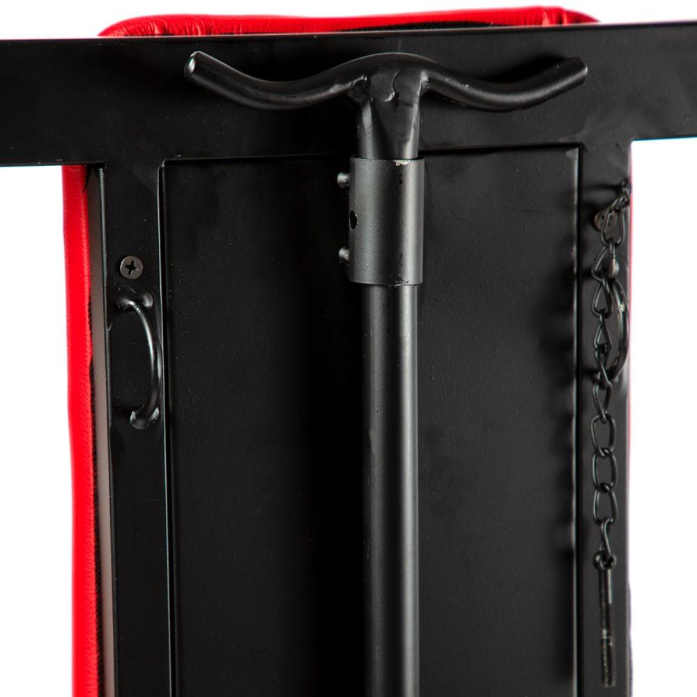 Разборное металлическое кресло БДСМ Roomfun на колесиках, черно-красное (40101), фото 8 — секс шоп Украина, NO TABOO