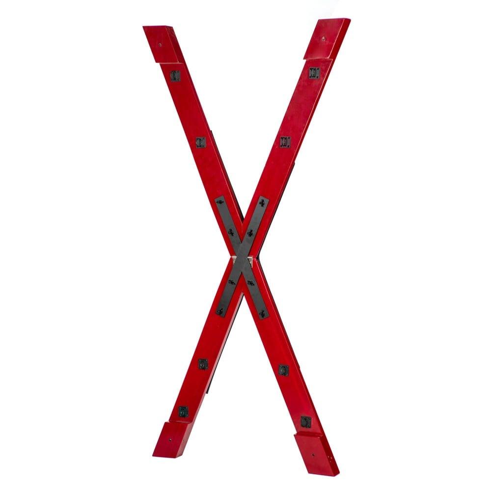 БДСМ установка для порки Roomfun в виде креста, красно-черная (40100)