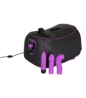 Секс-машина G-spot Machine с насадками, фиолетово-черная - No Taboo
