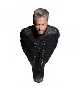 Смирительный мешок для БДСМ-игр Leather Bondage из натуральной кожи, черный - No Taboo