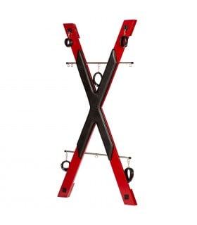 БДСМ установка для прочуханки Roomfun у вигляді хреста, червоно-чорна - No Taboo