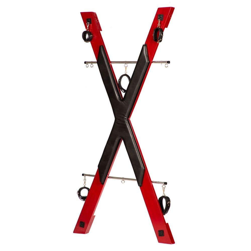 БДСМ установка для порки Roomfun в виде креста, красно-черная (40100), фото 1 — секс шоп Украина, NO TABOO