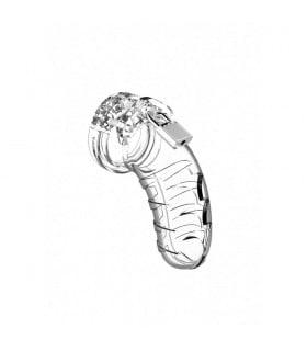 Мужской пояс верности Man Cage №4, 11.5 см, прозрачный - No Taboo