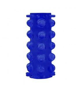 Насадка на пенис с открытой головкой большая, синяя, 1 шт - No Taboo