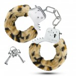Наручники металеві, з хутром, леопард