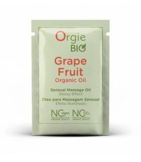 ПРОБНИК Органическое массажное масло с ароматом грейпфрута Orgie BIO - No Taboo