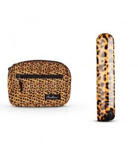 Вибропуля пластиковая с косметичкой в комплекте, леопардовая - No Taboo