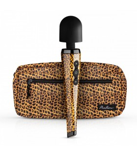 Вибратор микрофон Shaka Wand леопардовый, 28 см х 5.5 см - No Taboo