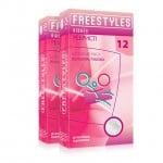 Презервативы ребристые, латексные, 0.06 мм, 12шт